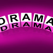 Постер, плакат: Drama Blocks Indicate Dramatic Theater or Emotional Feelings
