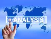 Analysis Map Indicates Internet or International Data Analyzing — Stock Photo