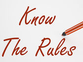 Know The Rules On Whiteboard Means Regulations And Special Condi — Stock Photo