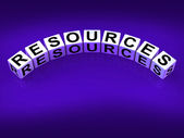 Resources Blocks Mean Collateral Assets and Savings — Stock Photo
