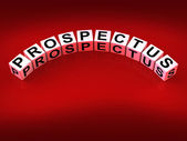 Prospectus Blocks Show Brochures that Advertise Inform and Descr — Stock Photo