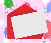 Red Envelope With Note Means Romantic Correspondence Or Love Let — Stock Photo