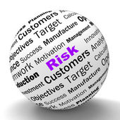 Risk Sphere Definition Means Dangerous And Unstable — Stock Photo
