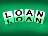 Loan Blocks Mean Funding Lending or Loaning — Stock Photo