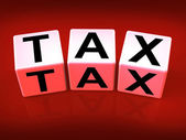 Tax Blocks Show Taxation and Duties to IRS — Stock Photo