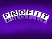 Profit Blocks Show Success in Trading and Earnings — Stock Photo