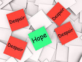 Hope Despair Post-It Notes Show Longing And Desperation — Stock Photo