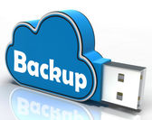 Backup Cloud Pen drive Means Data Storage Or Safe Copy — Stock Photo