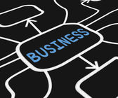 Business Diagram Means Company Venture Or Commerce — Stock Photo