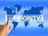 Priority Map Shows Superiority or Preference in Importance Inter — Stock Photo