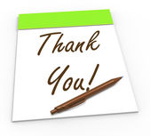 Thank You Notepad Means Gratitude And Appreciation — Stock Photo