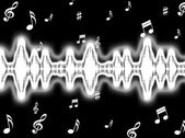 Sound Wave Background Shows Sound Pattern Or Frequency Equalizer — Stock Photo