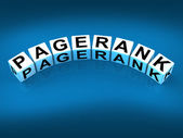 Pagerank Blocks Refer to Page Ranking Optimization — Stock Photo