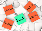 Fact Fiction Post-It Notes Mean Truth Or Myth — Stock Photo