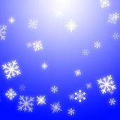 雪雪花背景显示季节性壁纸或雪花模式 — 图库照片