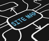Site Map Diagram Means Navigating Around Website — Stock Photo