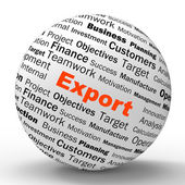 Export Sphere Definition Shows Abroad Selling And Exportation — Stock Photo