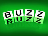 Buzz Blocks Indicate Excitement Attention and Public visibility — Stock Photo