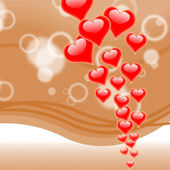 Hearts On Background Means Romance Love And Passion — Stock Photo