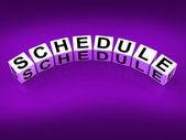Schedule Blocks Mean Program Itinerary and Organize Agenda — Stock Photo