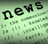 News Definition Means Breaking News Or Journalism — Stock Photo