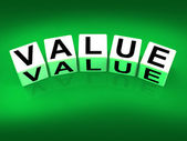 Value Blocks Represent Importance Significance and Worth — Stock Photo