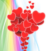 Bunch Of Hearts Shows Loving Relationship And Marriage — Stock Photo