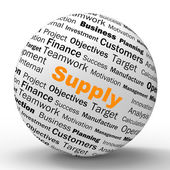Supply Sphere Definition Shows Goods Provision Or Product Demand — Stock Photo