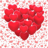 Heart Made With Hearts Shows Romantic Lover Or Passionate Couple — Stockfoto