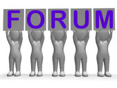 Forum Banners Means Online Conversations And Communications — Stock Photo