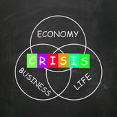 Business Life Crisis Means Failing Economy or Depression — Stock Photo