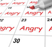 Angry Calendar Shows Mad Furious Or Resentful — Stock Photo