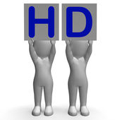 HD Banners Mean High Definition Television Or High Resolution — Stock Photo