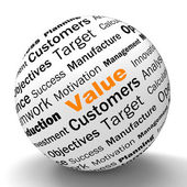 Value Sphere Definition Means Importance And High Value — Stock Photo