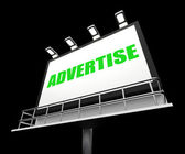 Advertise Sign Represents Promotion and Advertisement Message — Stock Photo