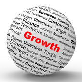 Growth Sphere Definition Shows Business Progress Or Improvement — Stock Photo