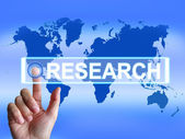 Research Map Represents Internet Researcher or Experimental Anal — Stock Photo