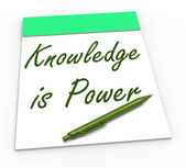 Knowledge Is Power Shows Abilities Or Knowing Secrets — Stock Photo