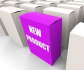 New Product Box Indicates Newness and Advertisement — Stock Photo
