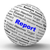 Report Sphere Definition Shows Progress Statistics And Financial — Stock Photo