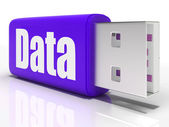 Data Pen drive Means Database Or Digital Information — Stock Photo