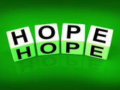 Hope Blocks Show Wishing Hoping and Wanting — Stock Photo