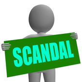 Scandal Sign Character Shows Publicized Incident Or Uncovered Fr — Stock Photo