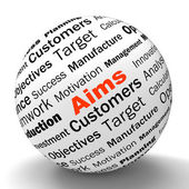 Aims Sphere Definition Means Business Goals And Objectives — Stock Photo