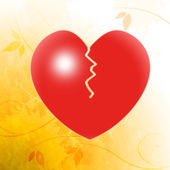 Broken Heart Shows Unhappy Couple Or Relationship Problems — Stock Photo