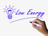 Low Energy and Lightbulb Indicate Less Power or Eco-friendly — Stock Photo