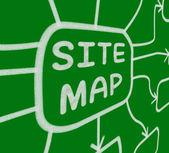 Site Map Diagram Means Layout Of Website Pages — Stock Photo