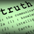 Truth Definition Means True Honesty Or Veracity — Stock Photo #45582281