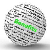 Benefits Sphere Definition Means Advantages Or Monetary Bonuses — Stock Photo