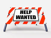 Help wanted Sign Represents Employment and Wanting Assistance — Stock Photo